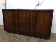 Vintage Modern Red Mahogany Dining Room Buffet