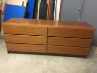 Danish Modern Teak 6 Drawer Dresser
