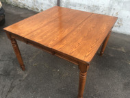 Oak Kitchen Table w/ Built in Leaf