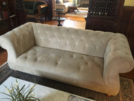 Tan Velvet Chesterfield Sofa