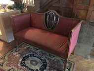 Red Victorian Settee