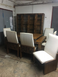 Lane Brutalist MCM 10pc Dining Room Set