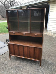 MCM Walnut China Cabinet