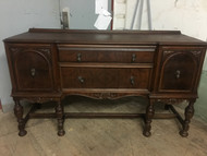 Antique Depression Era Walnut Buffet