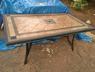 6ft Hampton bay stone top patio table