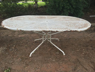 6ft wrought iron oval patio table