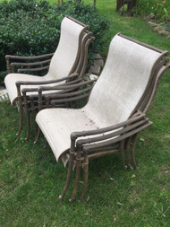6 Decorative Cast Aluminum Patio Chairs