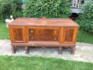 1890's 7.5ft Carved Walnut Dining Room Buffet