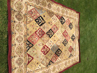 Red Diamond Pattern Area Rug 8'x11'