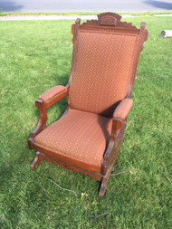 Antique Eastlake Spring Rocker Chair