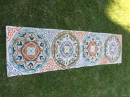 "Wool Circle Pattern Runner 22""x84"""