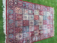 Red Square Pattern Area Rug 5'x8'
