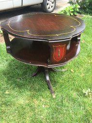 Antique Mahogany Pedestal Drum Table