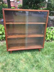 Mid Century Modern Glass Bookcase