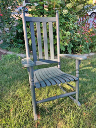 Green Painted Hardwood Porch Rocker
