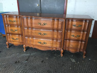 Cherry French Provincial 9 Drawer Dresser