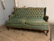 French Provincial Tufted Settee