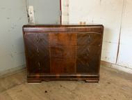 Antique 3 Drawer Art Deco Waterfall Dresser