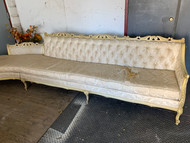 10 1/2 ft French Provincial Tufted 2pc Sofa