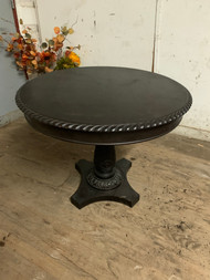 Dark Walnut Pedestal Foyer Table