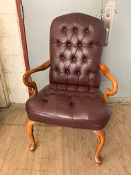 Tufted Burgandy Office Desk Chair