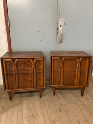 Pair of Mid Century Modern Cherry Nightstands