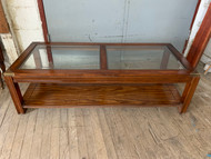 Asian Style Glass Top Coffee Table