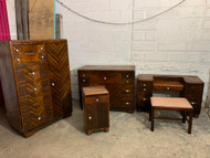 4 piece Art Deco set