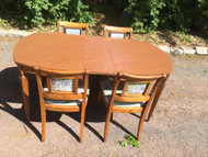 french dining table and 4 chairs