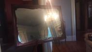 Solid mahogany mirror 49 x 35