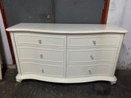 White french 6 drawer dresser