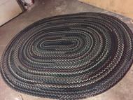 5 x 8 Vintage braided rug