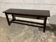 dark pine bench seat