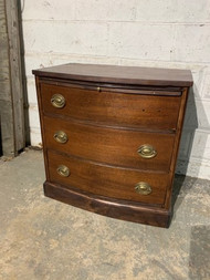 Mahogany 3 drawer dresser/nightstand with pull out shelf