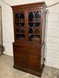 Mahogany china cabinet without handles