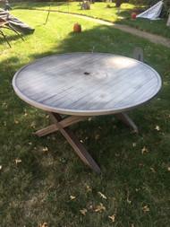 "52"" x 30"" metal patio table"