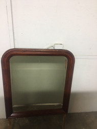 Large cherry finished mirror