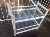 Plastic with glass top bar cart