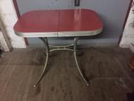 vintage chrome table