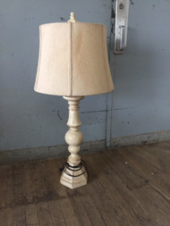white washed lamp