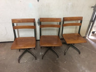3 vintage modern industrial chairs
