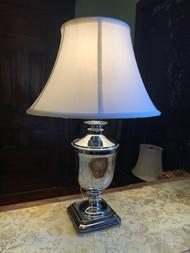 Polished chrome urn lamp