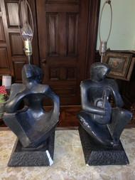 Rima cubist modern pair lamps