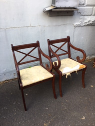 Pair of Bombay and company chairs