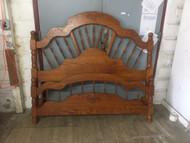 queen size oak bed