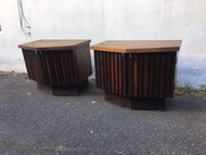 Dark walnut mid century night stands