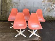 5 Burke Inc mid century modern tulip chairs