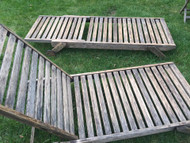 Two wooden loungers