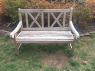 outdoor hardwood bench