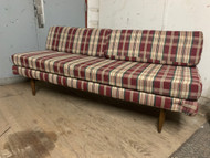 plaid Mid century modern daybed